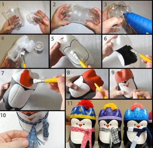 Reciclando garrafa pet decoração natalina.......