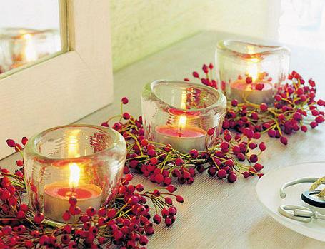Decoração com velas.....